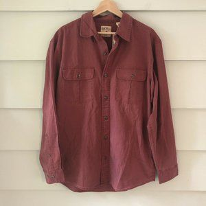 Red Head Button Down Shirt Large Red NWT